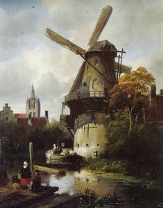 De Almolen en Oude Kerk te Delft