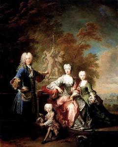 Portret van Ferdinand Adolf von Plettenberg (1690-1737), Bernhardine von Westerholt-Lembeck (1695-1757) en hun kinderen