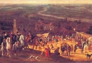 Frederik Hendrik in het legerkamp Vught bij het beleg van 's Hertogenbosch