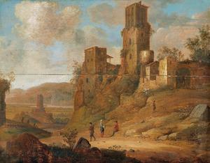 Zuidelijk landschap met ruïnes