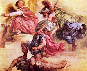 De Wijsheid houdt de Tweedracht verre van de troon van Jacobus I van Engeland