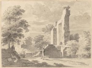 Ruïne van kasteel Ruwiel bij Breukelen
