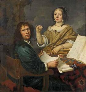 Portret van een vestingsbouwmeester en zijn vrouw