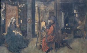 De H. Lucas schildert de Madonna