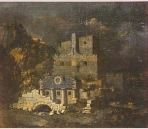 Landschap met een antieke ruïne