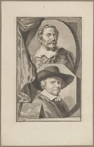 Portretten van Jan van Goyen (1596-1656) en Jacob Jordaens (1593-1678)