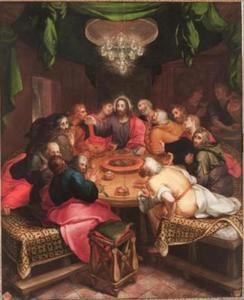 Het laatste avondmaal, de communie van Judas