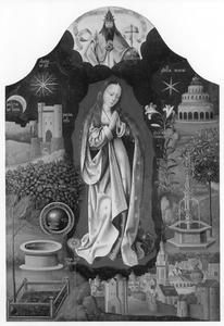 Maria met de symbolen van de Onbevlekte Ontvangenis