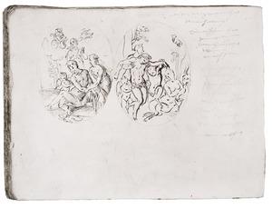 Dronken Bacchus (links) en de dood van Adonis (rechts)