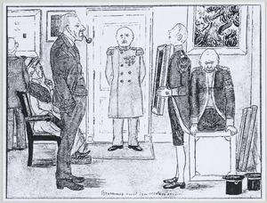 Karikatuurportret van Hendricus Petrus Bremmer (1871-1956) en Helene Emma Laura Juliana Muller (1869-1939)
