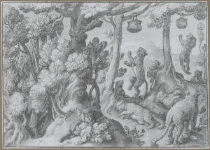 Panter- en luipaardenvangst met potten gevuld met menselijke uitwerpselen