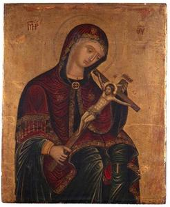 Maria met crucifix