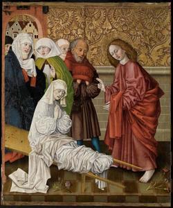 Johannes de evangelist wekt Drusiana tot leven