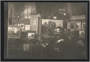 E.R.D. (Eg) Schaap (1862-1939) in zijn atelier