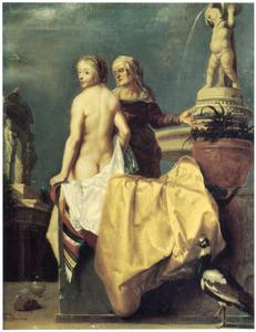 Batseba ontvangt Davids brief, terwijl hij haar vanaf het dak van zijn paleis bespiedt  (2 Samuel 9:2-17)