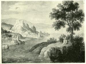 Landschap met de heilige Johannes op het eiland Patmos