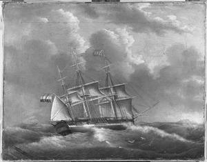 Koopvaardijfregat 'Cornelia Sara', van rederij gebr. Hartsen, onder kapitein D. Leeuwerik Wzn.