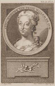 Portret van Anna van Hannover (1709-1759)
