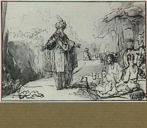 Juda geeft opdracht de geitenbok naar de (vermeende) hoer Tamar te brengen (Genesis 38:19)