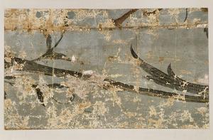 Fragment van een 18de-eeuws linnen behangsel