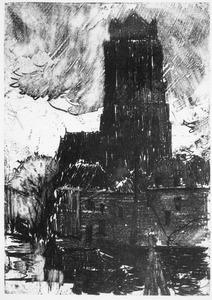 Gezicht op de Grote Kerk te Dordrecht