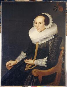 Portret van Catharina van der Burgh (1595-1671), echtgenote van Adriaan van der Goes
