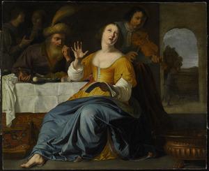 Mordechai en Ester vieren de overwinning op Haman (Ester 8)