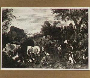 De dieren komen naar de ark van Noach (Genesis 6:8-9)