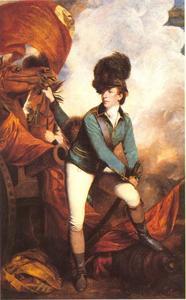 Kolonel Banastre Tarleton van het  British Legion (Tarleton's Green Horse cavalry regiment))