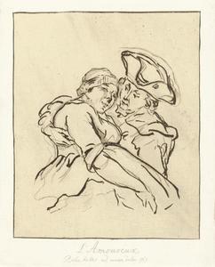 Jurriaan Andriessen omhelst de meid van de herberg De Zon