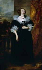 Portret van Katherine Manners, Duchess of Buckingham, later Marchionness of Antrim, 18th Baroness de Ros of Helmsley (c. 1603-1649)