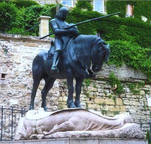 Sint Joris na zijn gevecht met de draak