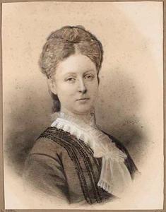 Portret van Maria Francoise Arnoudina Barones van Wassenaer (1853-1876)