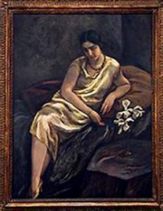 Portret van Dina Levij (1899-1981), echtgenote van Jacob Bethlem
