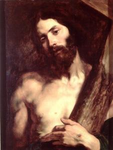 Christus met het kruis zijn wonden tonend