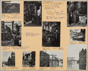 Blad met 10 etsen van W. Witsen uitgegeven door de kunsthandel E.J. van Wisselingh & Co