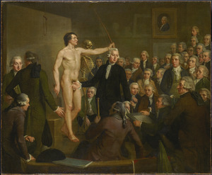 Professor Andreas Bonn (1738-1817) opent de tekenzaal van Felix Meritis