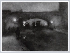 Waterloo Bridge bij avond