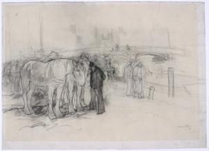 Trekpaarden op de Seinekade