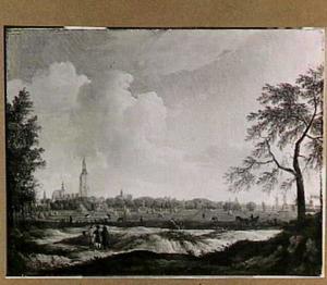 Gezicht op Den Haag vanuit het noorden (tegenwoordig Laan van Meerdervoort)