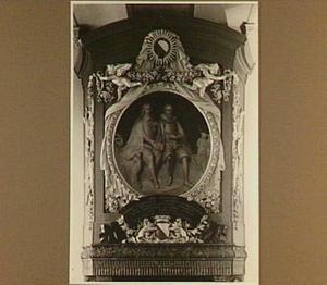 Schoorsteenstuk met dubbelportret van Dirck Jacobsz. van Velthuizen (1582-1642) en Gijsbert Jansz. van der Hoolck (1598-1680)