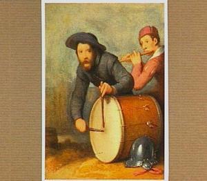 Een trommelaar en een fluitspeler