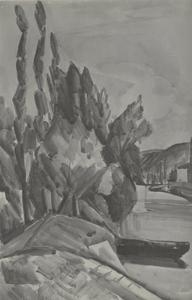 Masse de rocher au bord d'une rivière