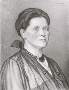 Portret van waarschijnlijk Henriette Wilhelmina van Hasselt (1874-1946)