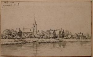 Het dorp Gouderak aan de Hollandse IJssel