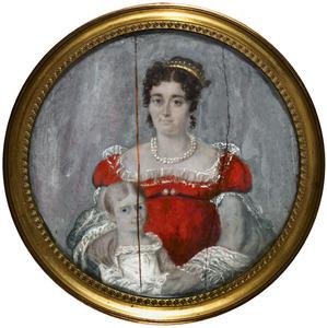 Portret van Henriette Aimee Antoinette d'Homassel (1790-1867) en Celine Isaure Pauline van Beugen (1816-1907)