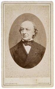 Portret van Abraham de Vries (1817-1879)