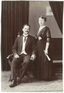 Portrt van Henri Aernout (?-?) en Leonore Margadant (?-?)