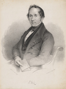 Portret van Willem Vrolik (1801-1863)