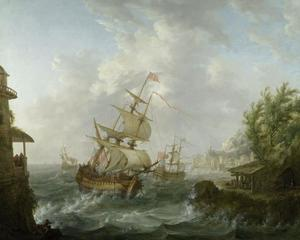 Zeeslag tussen Engelse en Amerikaanse oorlogsschepen